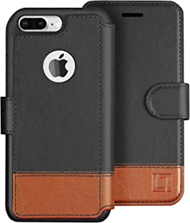 LUPA iPhone 8 Plus Wallet Case, Durable and Slim, Lightweight with Classic Design & Ultra-Strong Magnetic Closure, Faux Leather, Smoky Cedar, Apple 8 Plus
