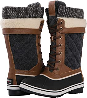 GLOBALWIN Women's 1932 Mid Calf Winter Snow Boots