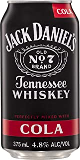 Jack Daniel's Tennessee Whiskey and Cola Premixed Cans, 375 ml (Pack Of 24)