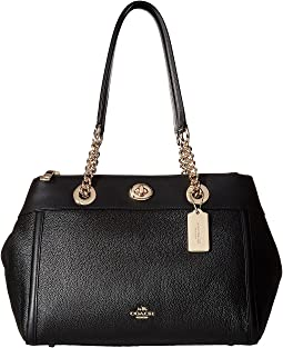 COACH - Polished Pebble Turnlock Edie Carryall