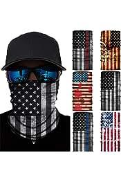 6 Pcs Bandana Face Mask Neck Gaiter, Scarf Headbands...