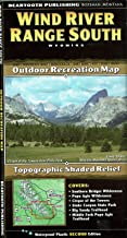 Wind River Range South, Wyoming, Outdoor Recreation Map