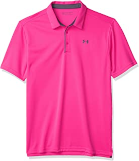 Under Armour Men's Tech Golf Polo, Pink Surge (687)/Pitch Gray, 3X-Large Tall