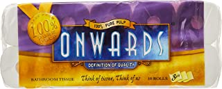 Onwards Pure Pulp Bathroom Tissue, 3 PLY, 260ct, (Pack of 10)