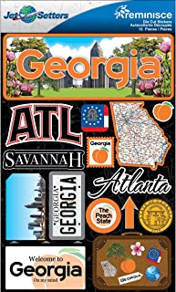 Reminisce Jet Setters 2 3-Dimensional Sticker, Georgia