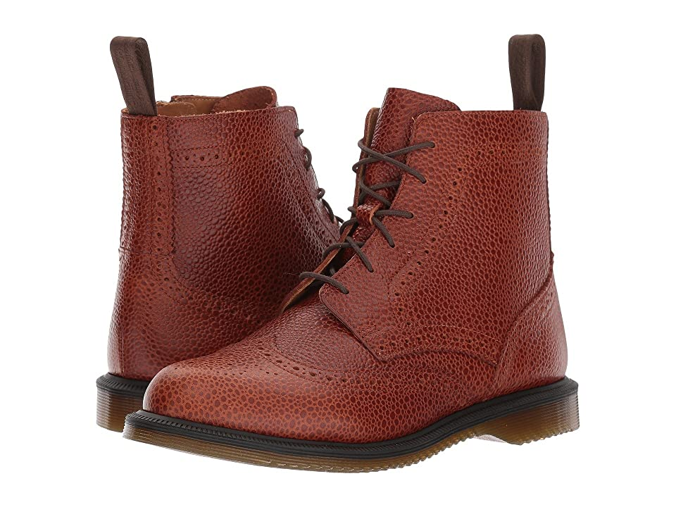 Dr. Martens Delphine 6-Eye Brogue Boot (Chestnut Coastal) Women