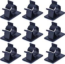 Lot de 12 clips de fixation pour c/âbles Porte-c/âble Gestion des c/âbles blanc//noir//transparent Porte-c/âble
