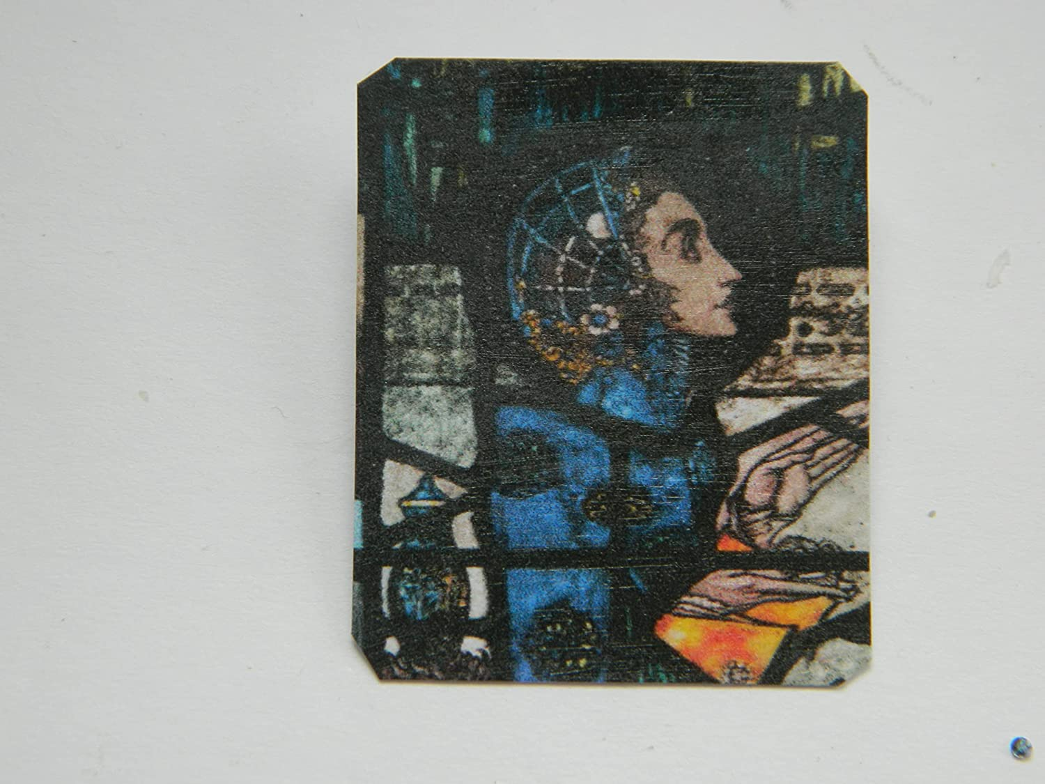 Lapel Pin Harry Clarke Stained Super Special SALE held Detail Blue Max 56% OFF Figure in Glass