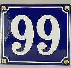 oval Wei/ß-SchwarzHandarbeit Emaille Hausnummer Schild Nr 13
