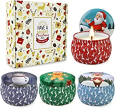 Christmas Scented Candles Gifts Set for Women,Aromatherapy Candles for Home Scented,4.4Oz Soy Wax Jar Candle for Brithday ...