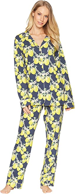 Lemon Long Sleeve Long Pajamas