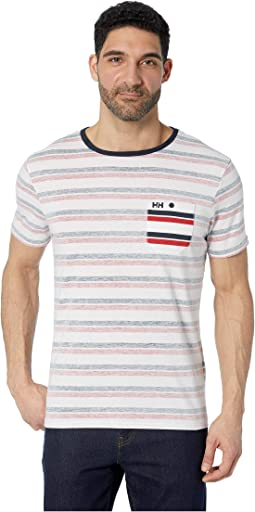 Navy Faded Stripes