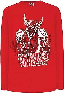 lepni.me Kids T-Shirt No Limits No Rules No Fear MMA Fighting Boxing Fan Gift