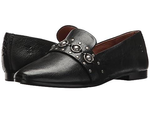Womens Terri Multi Stud Loafer Flat, Black, 6.5 M US Frye
