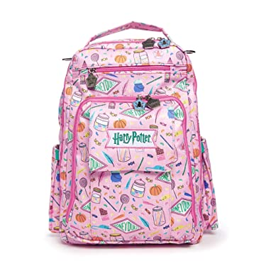 JuJuBe | Be Right Back Travel Backpack/Diaper Bag with Changing Pad | Stay Organized for Adults | Harry Potter | Honeydukes
