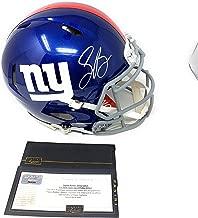 Saquon Barkley New York Giants Signed Autograph Full Size Speed Helmet Panini Authentic Certified