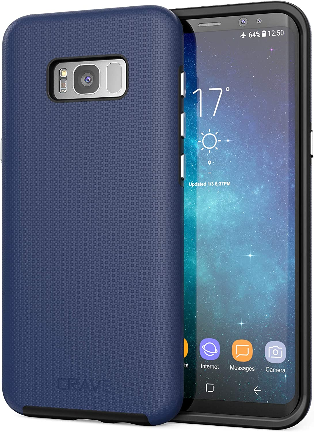 Crave S8 Plus Case, Dual Guard Protection Series Case for Samsung Galaxy S8 Plus - Navy