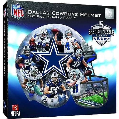 Masterpieces 91668 Dallas Cowboys Helmet Shaped Puzzle - 500 Pieces 58df968ed
