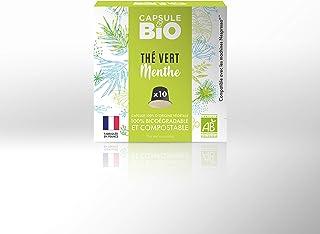 Capsule & Bio Grüner Tee mit Minze – 10 aluminiumfreie & kompostierbare Teekapseln, Nespresso kompatibel