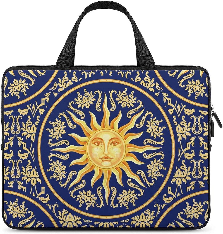 Celestial Baroque Blue New item Rapid rise Gold Laptop HandBag Tote Protective B Bag