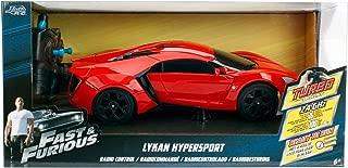 NEW 1:16 W/B JADA TOYS RADIO CONTROL CAR COLLECTION - FAST & FURIOUS - RED LYKAN HYPERSPORT R/C Radio Control Car By Jada Toys