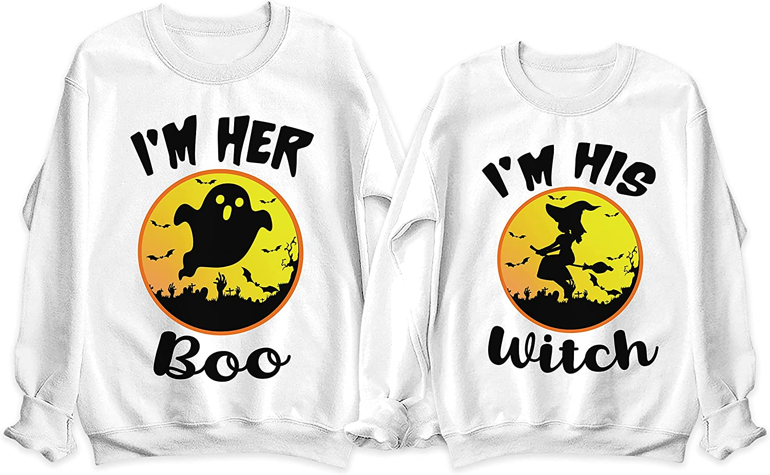 NACRE APPAREL I'm Selling Her Boo His Austin Mall Couple Matching Witch Hallowen