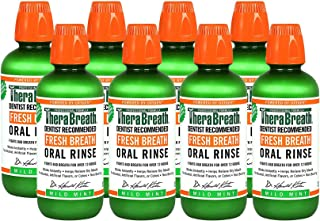 TheraBreath Dentist Recommended Fresh Breath Oral Rinse - Mild Mint Flavor sxEceu, 16 Ounce (Pack of 8)