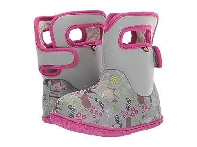 Bogs Kids Baby Bogs Woodland Friends (Toddler) (Light Gray Multi) Girls Shoes