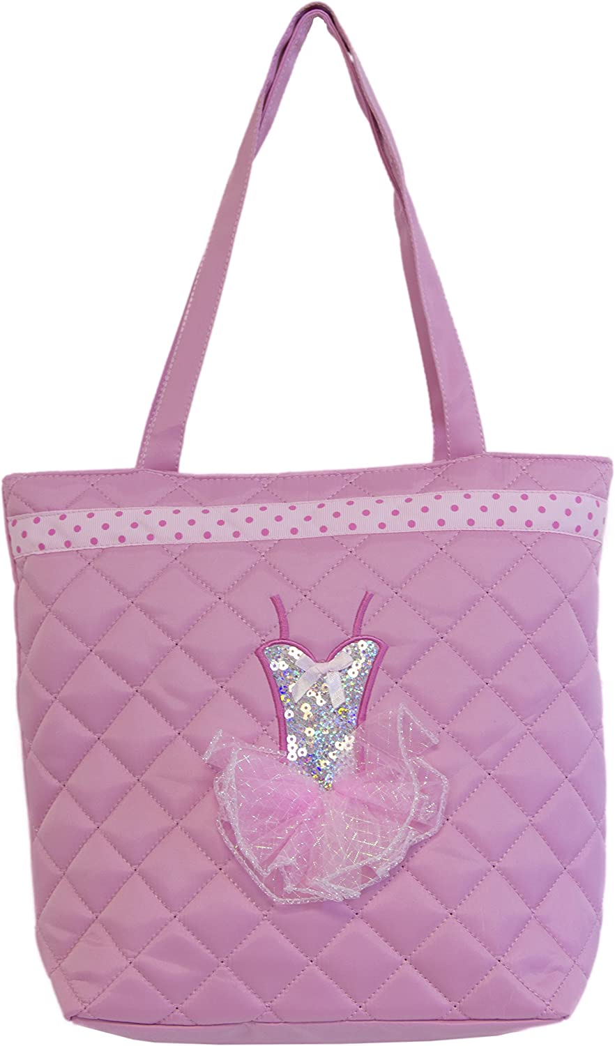Light Pink Quilted Tote Bag