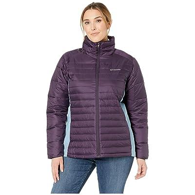 Columbia Plus Size Powder Pillow Hybrid Jacket (Dark Plum/Dark Mirage) Women