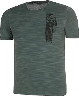 Reebok Men's Printed Regular fit T-Shirt (CY3605-CHLGRN-x-large_Chlgrn XL)