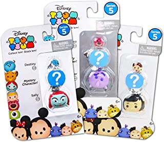 Tsum Tsum Mystery Disney Pack Series 5 Set --3 Pack Bundle Blind Bags with Stackable Tsum Tsum Figures (Disney Party Favors)