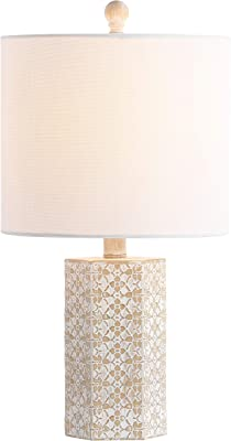 Safavieh TBL4168A Lighting Makayla Beige 18.75-inch (LED Bulb Included) Table Lamp
