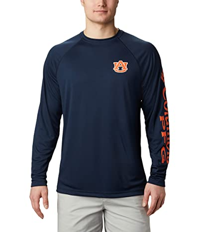 Columbia College Auburn Tigers Terminal Tackletm Long Sleeve Shirt (Collegiate Navy/Spark Orange) Men