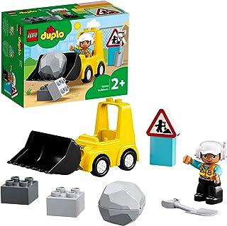 LEGO® DUPLO® İnşaat Buldozeri 10930 Mini Buldozer Kamyon Seti; 2 Yaş ve Üzeri Çocuklar için İşlevsel Yapım Oyuncağı (10 Pa...