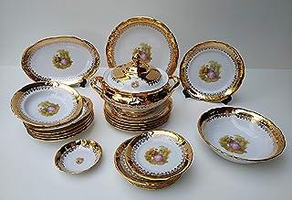 Vajilla de porcelana para 6 personas hecha en italy 24 oro completo romeo & juliette