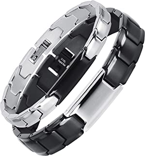 Smarter LifeStyle Elegant Couples His and Hers Distance Bracelets, Surgical Grade Steel