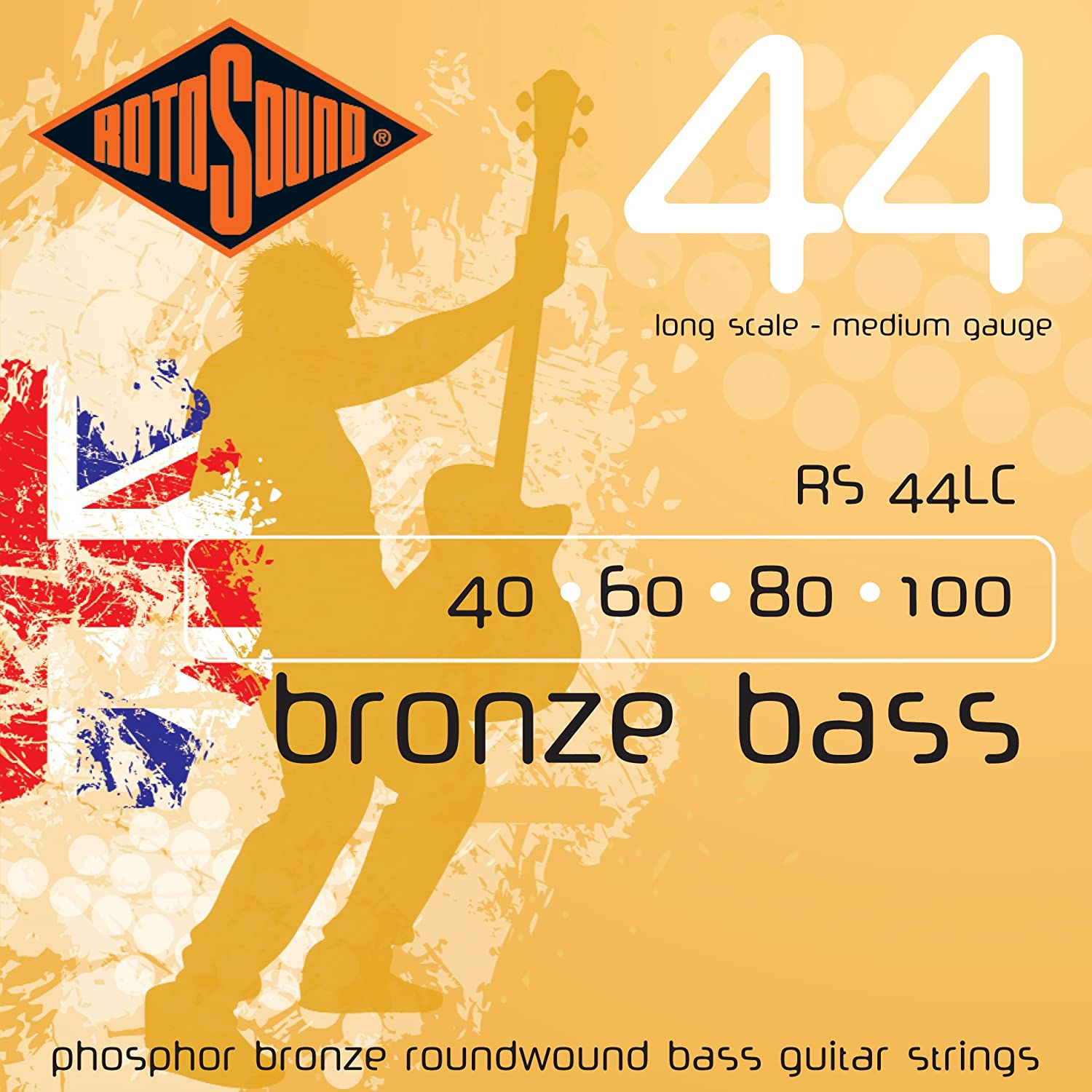 Rotosound RS44LC Phosphor New color Bronze safety Bass Guitar 60 1 80 Strings 40