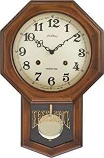 さんてる アンティーク電波振り子時計(八角) 日本製掛け時計 ブラウン DQL624