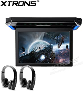XTRONS 12.1 Inch 1080P Video Car Overhead Player Roof Mounted Monitor HDMI Port Black New V ersion IR Headphone