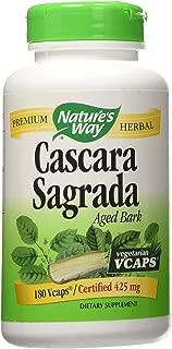 Natures Way Cascara Sagrada Bark 180 Vcaps