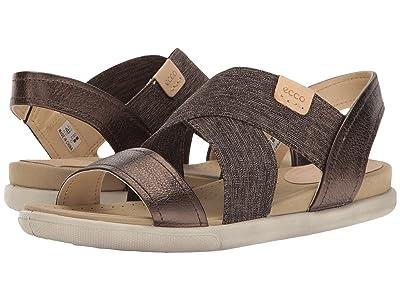 ECCO Damara 2-Strap Sandal (Licorice/Powder Cow Leather/Cow Nubuck) Women