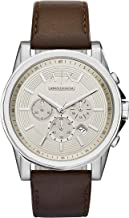A|X Men's Brown Leather Watch AX2506