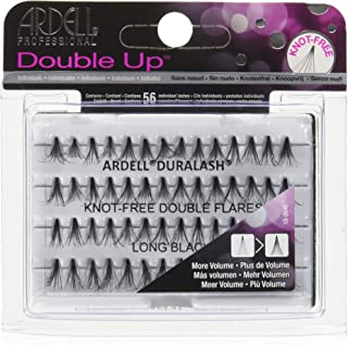 Ardell Double Up Individuals Knot-Free Long Black False Lashes, Double Flares