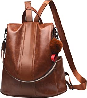 Women Backpack Purse PU Leather Anti-theft Backpack Casual Satchel School Shoulder Bag for Girls