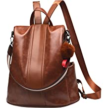 Women Backpack Purse PU Leather Anti-theft Backpack Casual Satchel School Shoulder  Bag for Girls 01bba9294a7d7