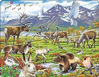 Larsen FH14 Flore et Faune de la Toundra Arctique, Puzzle Cadre avec de 50 pièces