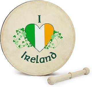 Waltons 8 Inch 'I Love Ireland' Bodhrán - ساز ایرلندی دست ساز - ترد
