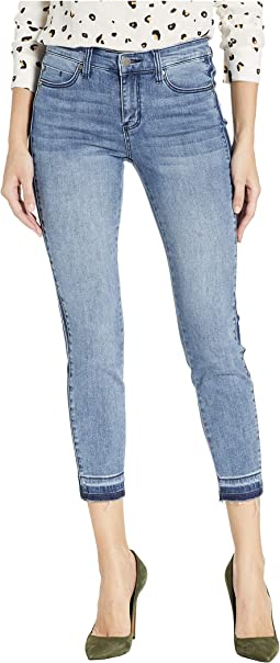 Abby Crop Skinny Jeans w/ Side Inset in Wakecrest