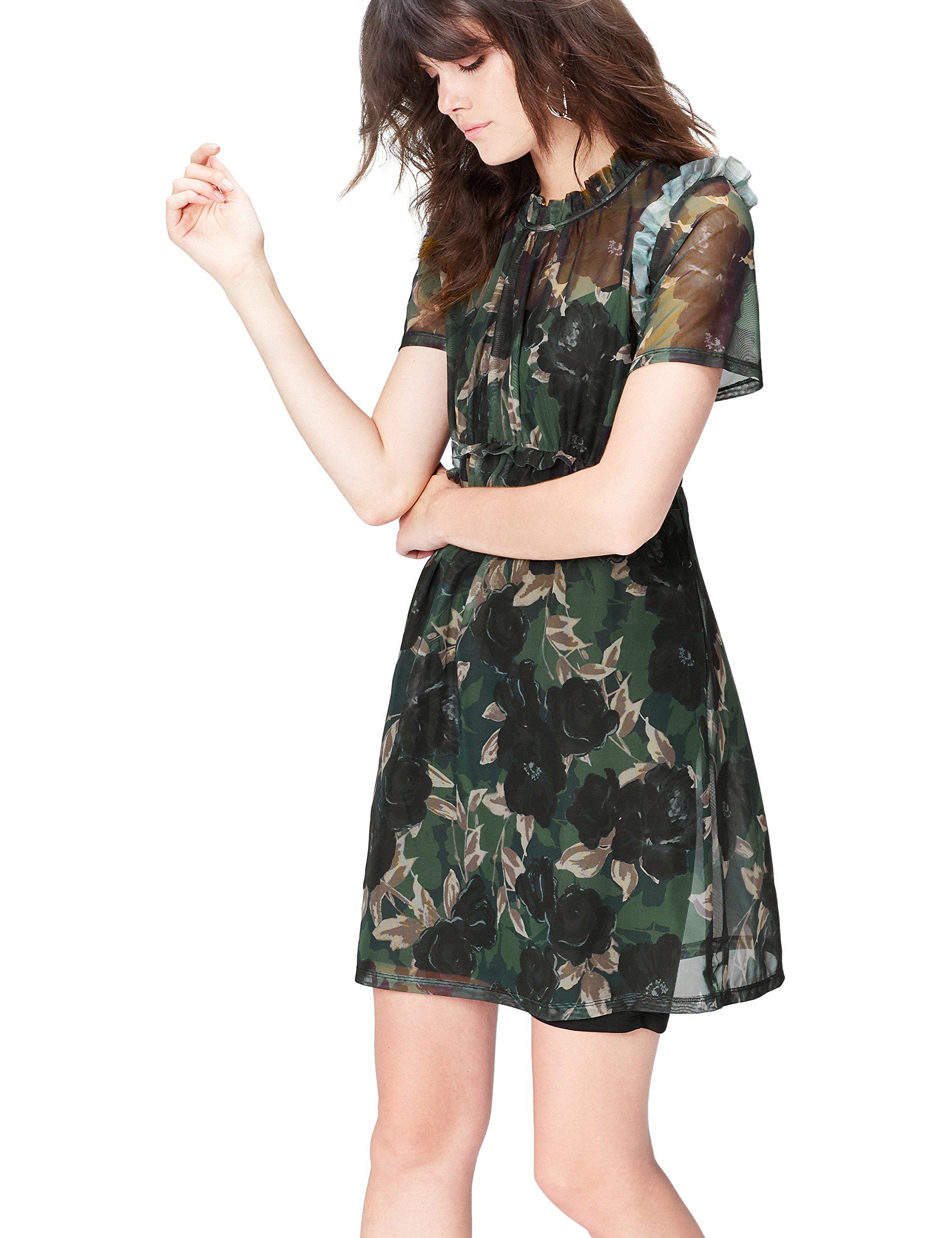 Find 女式花卉 stretch-mesh 连衣裙